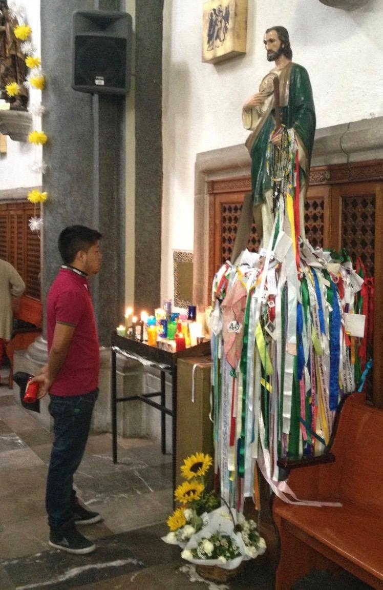 Saint Judas Thaddée à Tlalpan, Mexique. 28 août 2014. Photo Renée de la Torre.