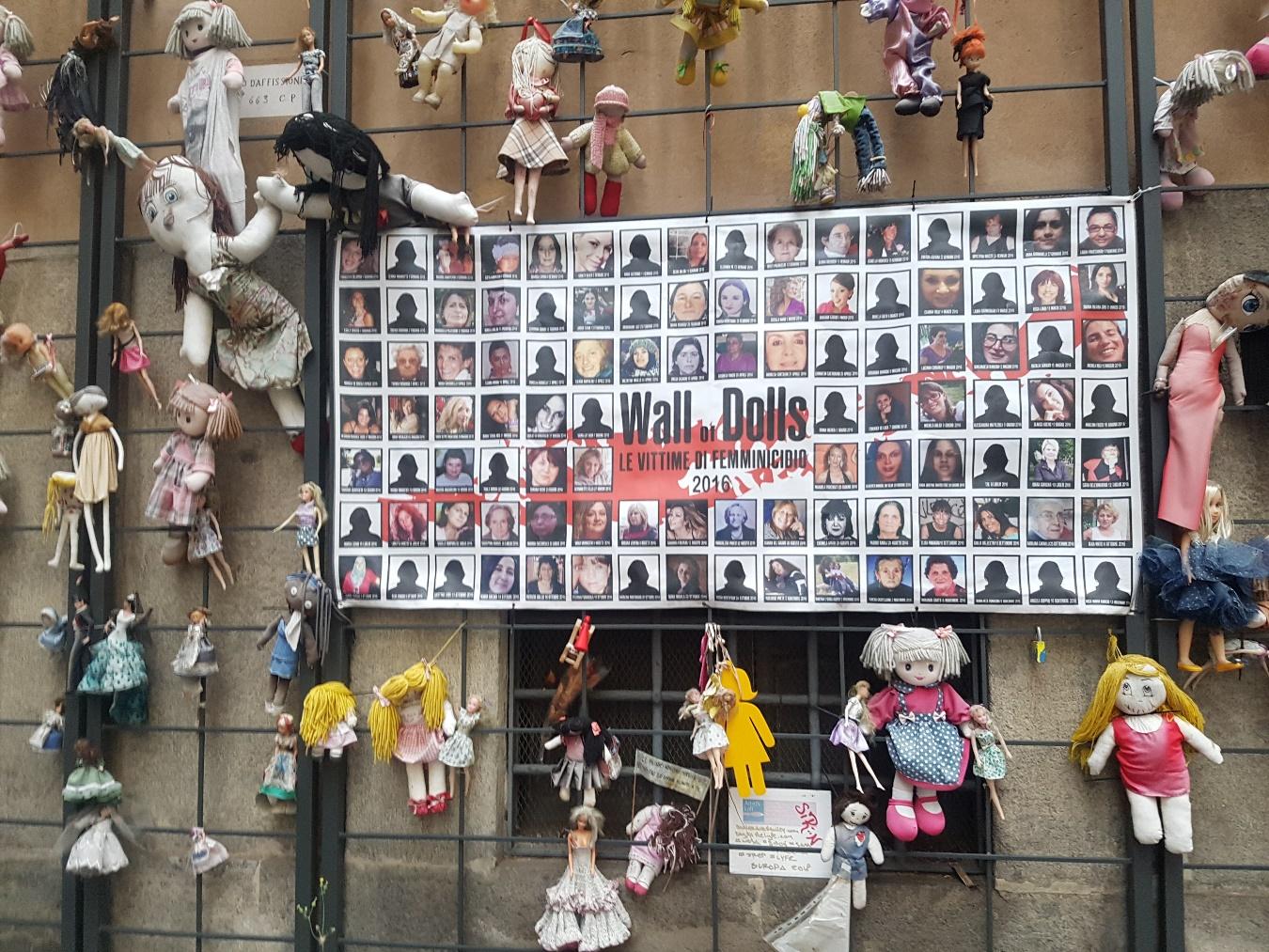 Wall Dolls, Rome, Italie, 19 septembre 2018. Photo Renée de la Torre.